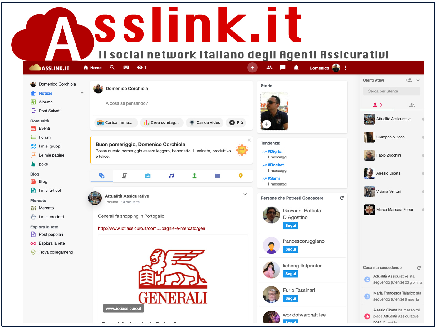 Ingegnere informatico asslink il social network per gli agenti assicurativi